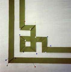 greek key trim diagram roman shade - laurel home