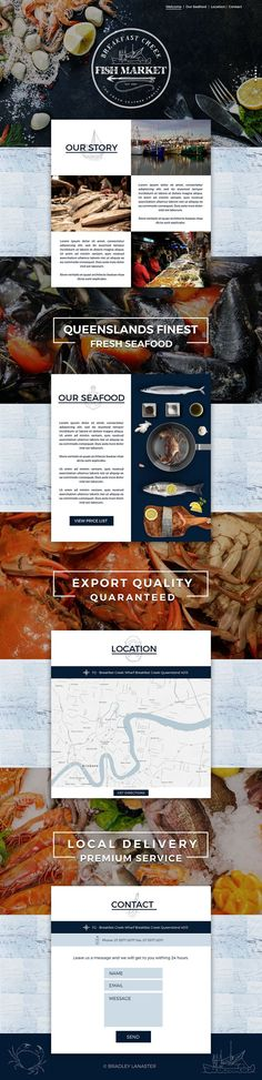 Breakfast Creek Fish Market - Website on Behance New Seafood Fish Market Website Design by Bradley Lancaster #bradleylancaster #webdesign #web #graphicDesign #fish #fishing #catch #brandingdesign #australia #brisbane #markets #fresh #healthy #bbq #behance #dribbble #ui #ux #theme #developer #wordpress #logodesigner #vintage #topview #website #programming #frontend bradleylancaster.com. The UX Blog podcast is also available on iTunes.