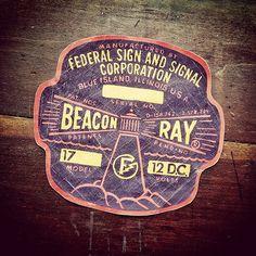 Beacon Ray- custom ephemera by Graphic Design Posters, Graphic Design Typography, Typography Inspiration, Graphic Design Inspiration, School Signage, Vintage Labels, Vintage Ephemera, Vintage Ads, Vintage Typography
