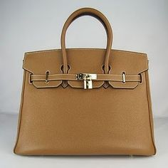Hermes Birkin - saw this style of Birkin in a beautiful purple color and omg, it was beautiful...