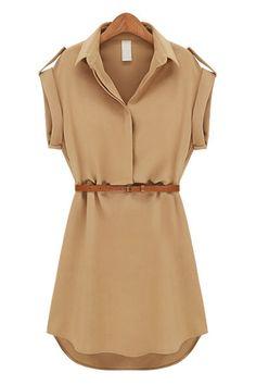 Drop Sleeve Shirt Dress - OASAP.com