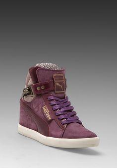7ed27aa0eddd ALEXANDER MCQUEEN PUMA Joustesse Mid Wedge Sneaker in Dark Grey - Sneakers  Wedge Sneakers Style