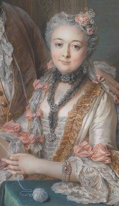 1743Detail of the portrait of Marie Élisabeth de Séré de Rieux