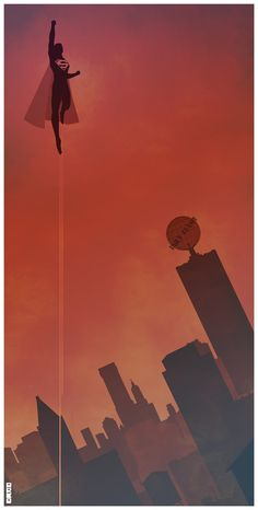 Superman by Matt Ferguson - Now THIS is how you do a vintage superhero poster.