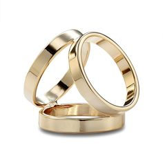 This scarf ring features three gold plated rings leaning against each other.