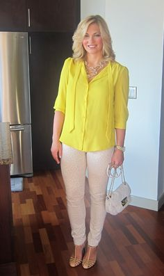 Neutral Leopard Jeans with Yellow