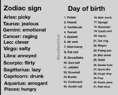 I am drunk fat roll.my bff is clever frog. Zodiac Signs Sagittarius, Zodiac Sign Traits, Zodiac Signs Horoscope, Zodiac Star Signs, Astrology Zodiac, Astrology Signs, Horoscopes, Zodiac Signs Dates, Taurus