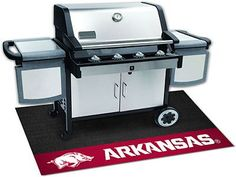 The Arkansas Razorbacks Grill Mat can turn grilling into a team sport and protect your deck or patio at the same time! AN NCAA licensed University of Arkansas product, the 100% Vinyl Grill Mat is made
