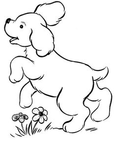Cute Puppy Image to Print and Color 033 | Dog, Printing and Embroidery