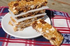 Smore Granola Bar Put this recipe into WW and it is 3 pts per bar.