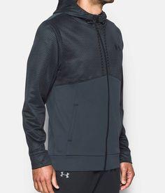 Men's UA Storm Armour® Fleece Full Zip Hoodie, STEALTH GRAY, zoomed image