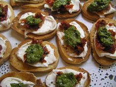 Oh! You Cook!: Sundried Tomato Basil Pesto Canapes - Easy