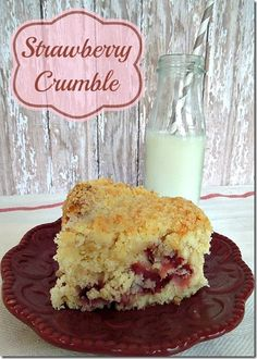 strawberry Crumble #recipe #food #dessert