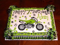 DIRTBIKE BIRTHDAY CAKE | Dirt Bike Cake — Children's Birthday Cakes
