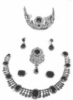 Parure di zaffiri e diamanti dell'Imperatrice  Josephine dei Francesi