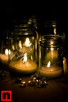 More mason jar candles