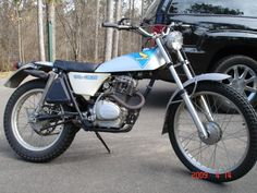 1975 Honda TL 125. Perfect fit for a 6 foot , 14 year old.