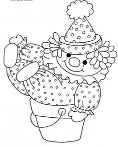 palhaço Cute Coloring Pages, Coloring Sheets, Adult Coloring, Coloring Books, Cross Stitch For Kids, Cross Stitch Baby, Baby Applique, Applique Patterns, Scrapbook Bebe