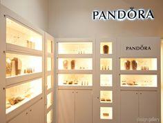 Pandora feature display area inside Silvershop in Mackay, QLD Australia.