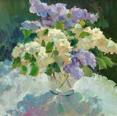 Gregory Packard, Lilacs Outside, oil, 30 x Lilac Painting, Watercolor Paintings, Henri Rousseau, Still Life Art, Abstract Flowers, Flower Artwork, Painting Inspiration, Photo Art, Petunias