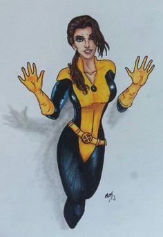 X-Men — Kitty Pride aka Shadowcat Kitty Pryde, Shadow Art, Man Character, Marvel Girls, Drawing, Wolverine, Digital Image, X Men, Marvel Comics