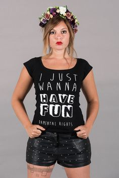 "Women T-Shirt ""I just wanna have FUNdamental rights"""