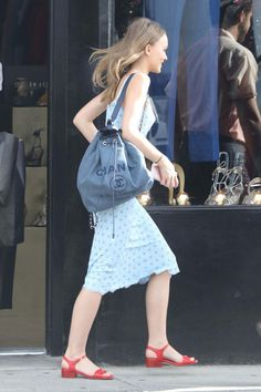 Lily-rose Depp Shopping At Golden Age In West Hollywood