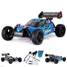1/10 Remote Control Racing Nitro Powered RC Buggy Car Toy Gas w Fuel Starter Kit #RedcatRacing