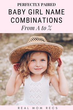Beautiful Baby Girl Name Combinations (First and Middle) - Real Mom Recs names girl elegant names girl pretty names girl vintage names girl with nicknames baby names girl Double Girl Names, Baby Girl Middle Names, Baby Girl Names Elegant, Baby Names Short, Beautiful Baby Girl Names, Girls Names Vintage, Modern Baby Names, Baby Girl Names Unique, Cute Baby Names