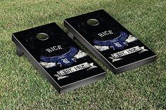 Rice Owls Cornhole Game Set Banner Vintage Version * See this great product.