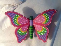 Resultado de imagen para mariposas de yeso pintadas