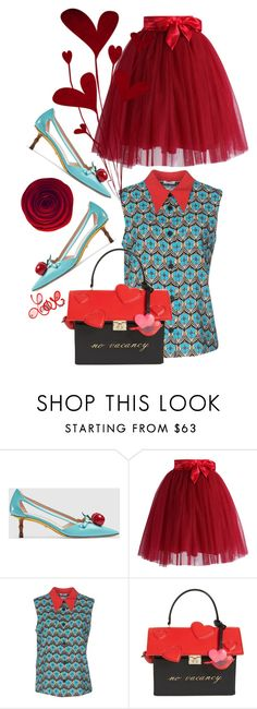 """""""Untitled #1636"""" by sunnydays4everkh ❤ liked on Polyvore featuring Gucci, Chicwish, Miu Miu, Kate Spade and Mio"""