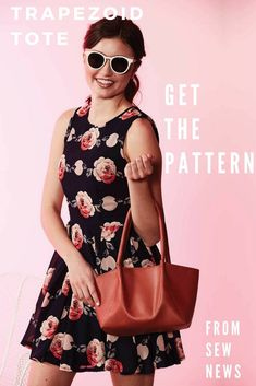 Download the pattern for the Trapezoid Tote!