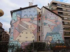 Resultado de imagen de fachadas pintadas con dibujos