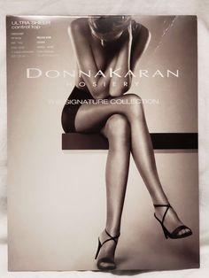 c6a232767 Donna Karan Ultra Sheer Control Top Pantyhose Off Black Tall  fashion   clothing  shoes