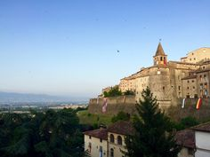 A summertime evening in Anghiari.