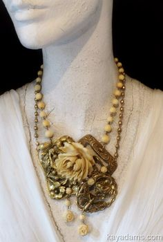 antique ivory and brass