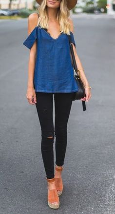 denim blue + black
