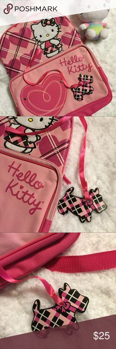 Listing-New Hello Kitty backpack New no tags. Adorable Hello Kitty with Scottie dog charm. Front zip pocket, adjustable straps. Hello Kitty Bags Backpacks