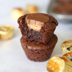 Mini Brownie Bites, Brownie Bites Recipe, Mini Brownies, Brownie Desserts, Brownie Recipes, Dessert Recipes, Candy Recipes, Dessert Ideas, Yummy Recipes