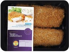 Sainsbury's Taste the Difference Breaded Chunky Cod Loins (2 per pack - 350g)