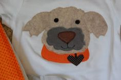 Dog applique.