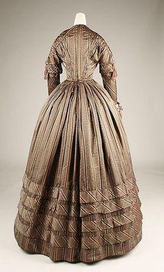 American silk dress ca. 1841, The Met