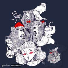 The Three Bears on Threadless