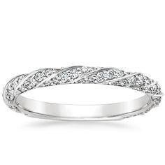 18K White Gold Cordoba Diamond Ring, top view