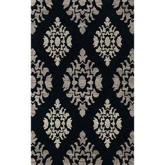 Dalyn Rug Co. Bella Black/Gray Area Rug Rug Size: Square 6'