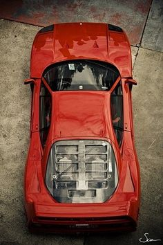 Red from birdview