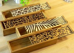 New Vintage Hollow Lace style  Classic wooden pencil case/DIY Multifunction Pencil box/clean up box/nice gift/Wholesale