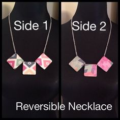 Reversible Handmade Necklace by MWH6 on Etsy