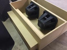 Do you need a custom made-to-order subwoofer enclosure? We can do that! The team at our North Dixie store, Stereo-In-Dash, just fabricated this custom 4th order bandpass enclosure and will be loading it with a pair of Kicker Q-Class L7s! We've got the tools and skills to create any mobile electronics solution, so please stop by any of our three locations (Beavercreek, North Dixie/Stereo-In-Dash, and West Carrollton/Moraine) to discuss your unique needs and ideas! Subwoofer Box Design, Speaker Box Design, Audio Box, Custom Car Audio, Woofer Speaker, Car Audio Installation, Car Console, Custom Car Interior, Car Audio Systems